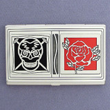 Skull & Rose Business Card Case