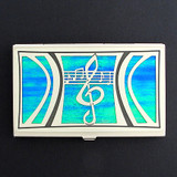 Musical Scales Decorative Credit Cards Case