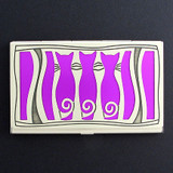 Triple Cats Decorative Business Card Holder