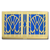 Art Deco Fans Decorative Business Card Case
