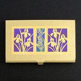 Iris Flower Business Card Holder