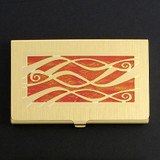 Ribbons Business Card Holder Case