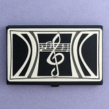 Music Business Cards Holder Case in Black