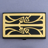 Art Nouveau Black Business Card Holder Case