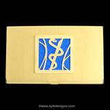 Medical Business Card Holder in Gold