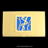 Medical Business Card Holder in Gold