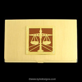 Gold Law Scale Business Card Case