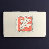 Oak Leaves Business Card Holders