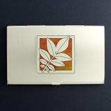 Walnut Leaf Business Card Holders