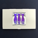 Triple Cats Business Card Holders