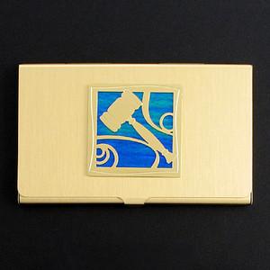Gavel Business Card Holders