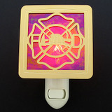 Firefighter Shield Night Light - Unique Firefighter Gift