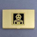 Retro Robot Business Card Holders