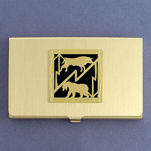 Stock Market Business Card Holders