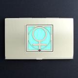 Woman Symbol Business Card Holder