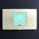 Woman Symbol Business Card Holder