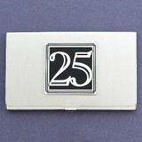 Number 25 Business Card Case
