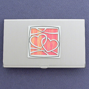 Romantic Hearts Business Card Case