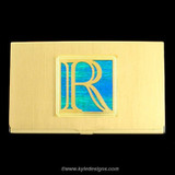 Monogrammed Letter R Business Card Holder