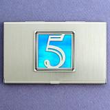 Number 5 Business Card Case