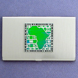 African Continent Business Card Holder