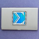 Greek Letter Sigma Business Card Holder