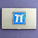 Pi Greek Letter Business Card Case