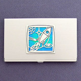Star Business Card Cases with Rockets
