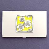 Daisy Flower Business Card Case
