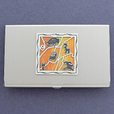 Cave Drawing Design Business Card Holder