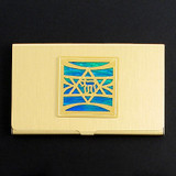 Jewish Star Business Card Holder