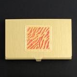 Tiger Stripe Animal Print Business Card Case