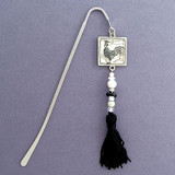 Rooster Hook Bookmark with Beaded Tassel