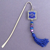 Jewish Star Beaded Hook Bookmark with Beaded Tassel
