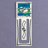 Sea Otter Metal Bookmark