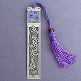 Iris Long Metal Tasseled Bookmark