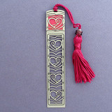 Pink Heart Bookmark with Tassel