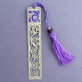 Vines Decorative Long Tassel Bookmark for Books