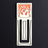 Flames Engraved Bookmark