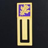 Oak Leaves Engraved Bookmarks