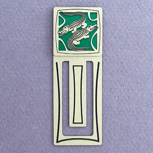 Alligator Engraved Bookmark