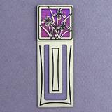 Iris Flower Engraved Bookmark