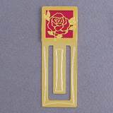 Rose Engraved Bookmark