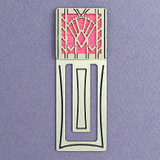 Art Deco Fan Engraved Bookmark