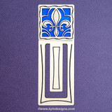 Fleur De Lis Engraved Bookmark