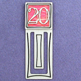 20th Engraved Bookmark