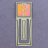 Question Mark Engraved Bookmark