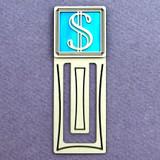 Dollar Symbol Engraved Bookmark