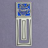 Coffee Cup Engraved Metal Bookmark