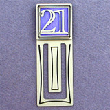Number 21 Symbol Engraved Bookmark